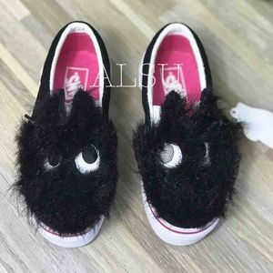 VANS Sip On Friend Party Fur Black Kid's AUTHENTIC